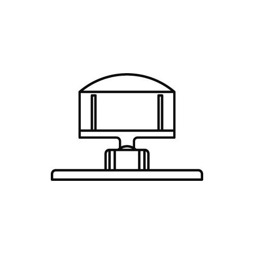 Schildhalter klein 27mm mit Bodenplatte 40x75mm - VersaGrip
