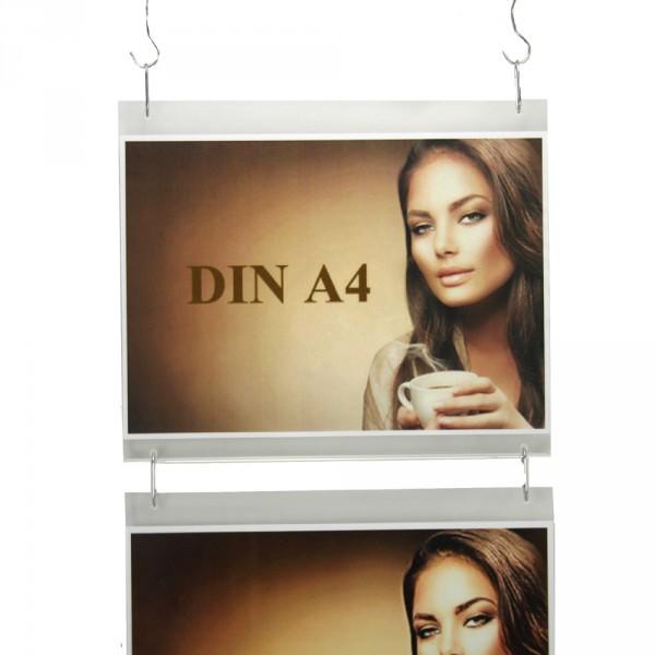 Wanddisplay Einzelblatt DIN A4 Querformat in Endlos-Hängung