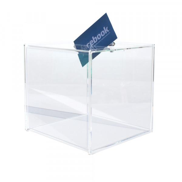 Losbox 15cm Premium Serie aus Plexiglas® mit Schloss