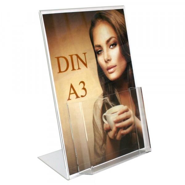 Premiumaufsteller DIN A3 mit Box DIN A4 Hochformat