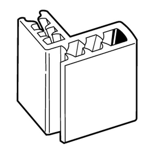 SuperGrip 2-Wege-Schildhalter 2mm 90 Grad, 25mm - 20er Pack