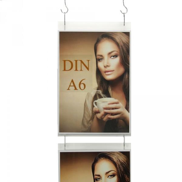 Wanddisplay Einzelblatt DIN A6 Hochformat in Endlos-Hängung