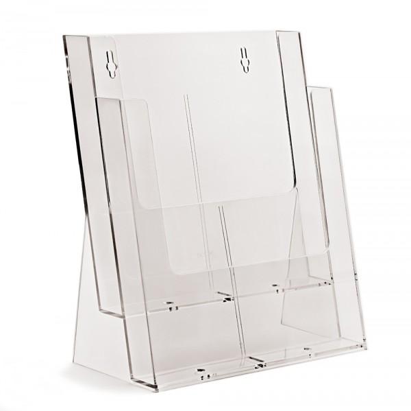 Prospektständer Taymar® 2 Etagen - 2 Fächer DIN A4