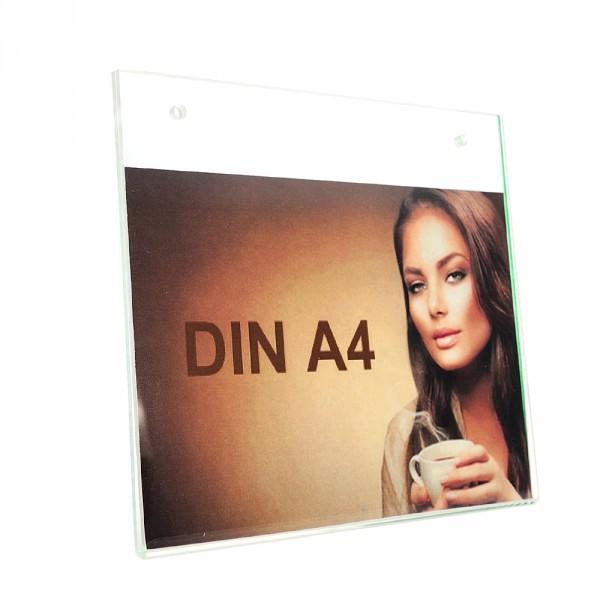 Wanddisplay Einzelblatt DIN A4 Löcher durchgehend Querformat