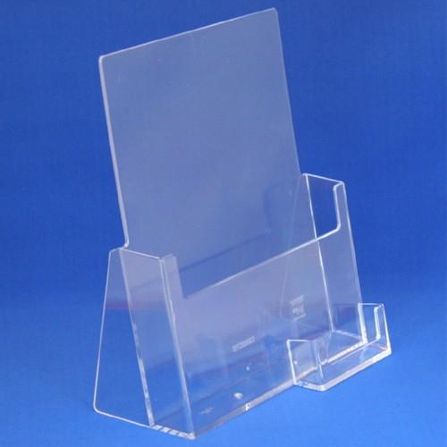 Prospektständer Taymar® DIN A4 mit Visitenkartenfach