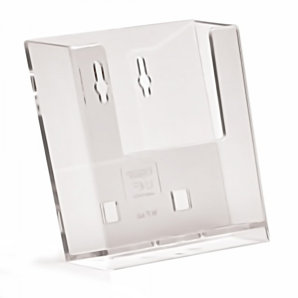 Wand-Prospekthalter Taymar® DIN A6 mit Standfuß