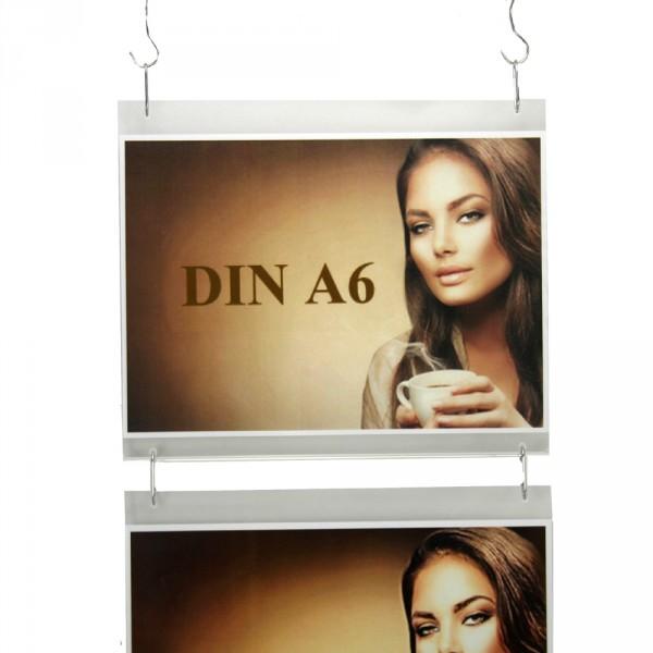 Wanddisplay Einzelblatt DIN A6 Querformat in Endlos-Hängung