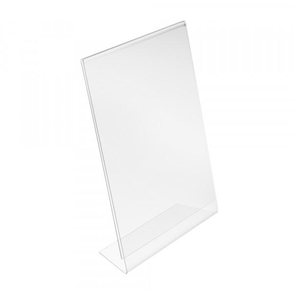 Tischaufsteller L-Form geneigt DIN A4