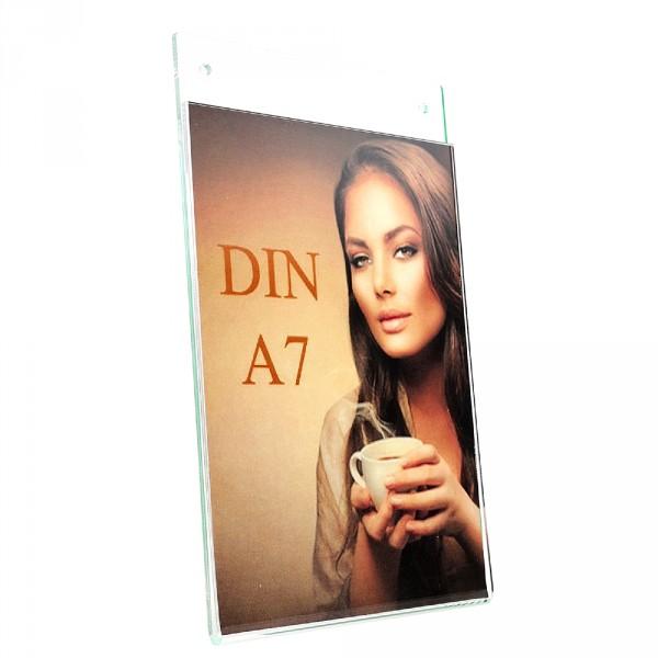 Wanddisplay Einzelblatt DIN A7 Hochformat