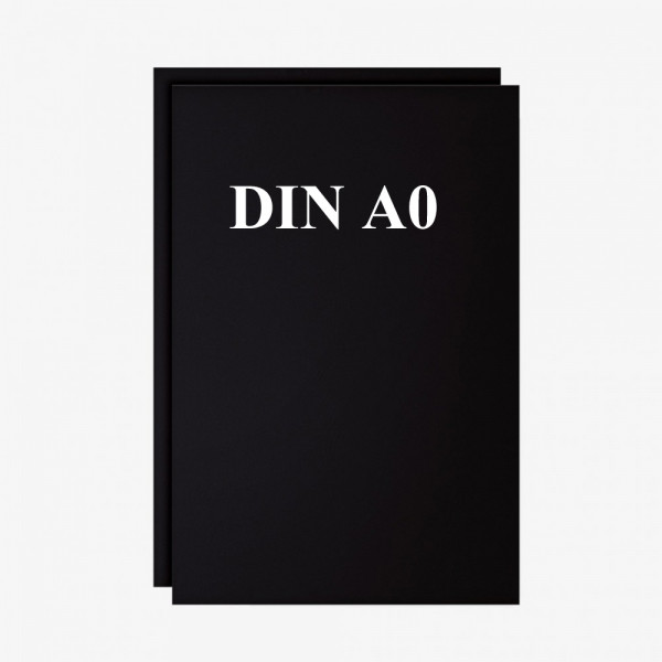 Schreibfolien Set 2 Stck. schwarz DIN A0