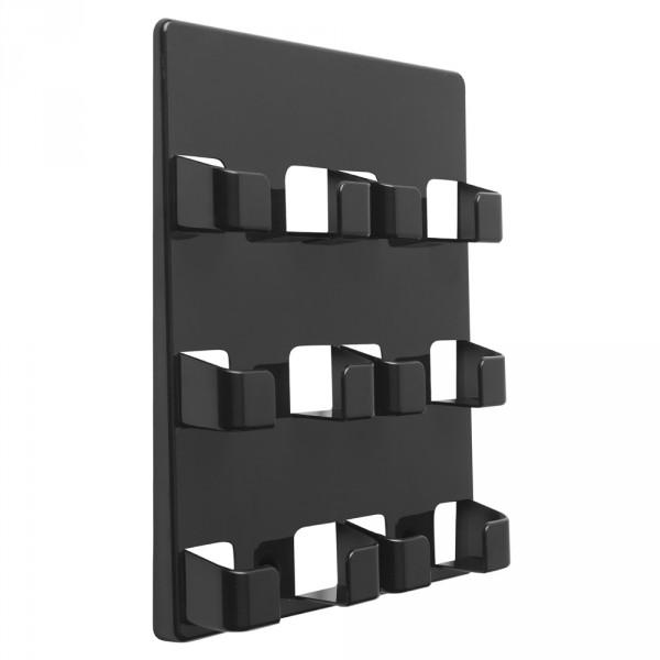 Visitenkartenhalter 6 Fächer für die Wand schwarz