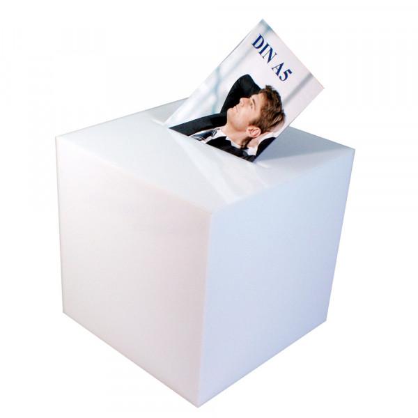 Losbox 30cm Kantenlänge ECO Opal blickdicht