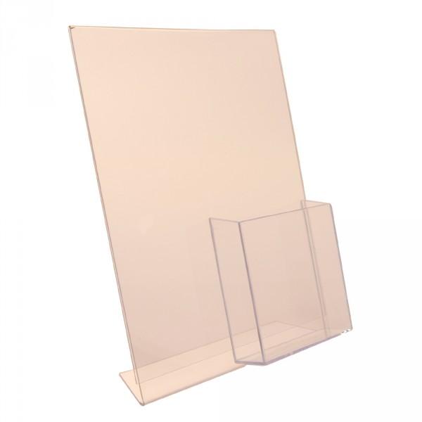 Premiumaufsteller DIN A4 mit Box DIN lang