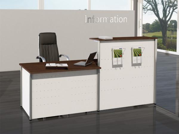Thekenkombination Budget WHITE 01 - 232x70cm