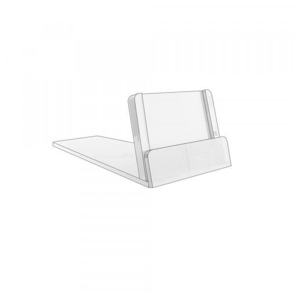 Kartenhalter 35x45mm geneigt, 2mm Schlitz - 20er Pack