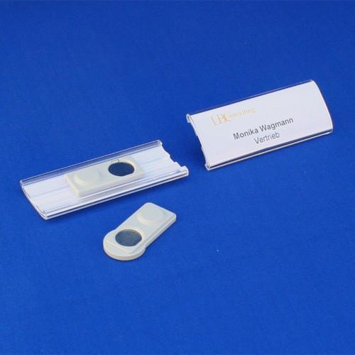 Namensschild 75x30mm Acryl mit Magnet
