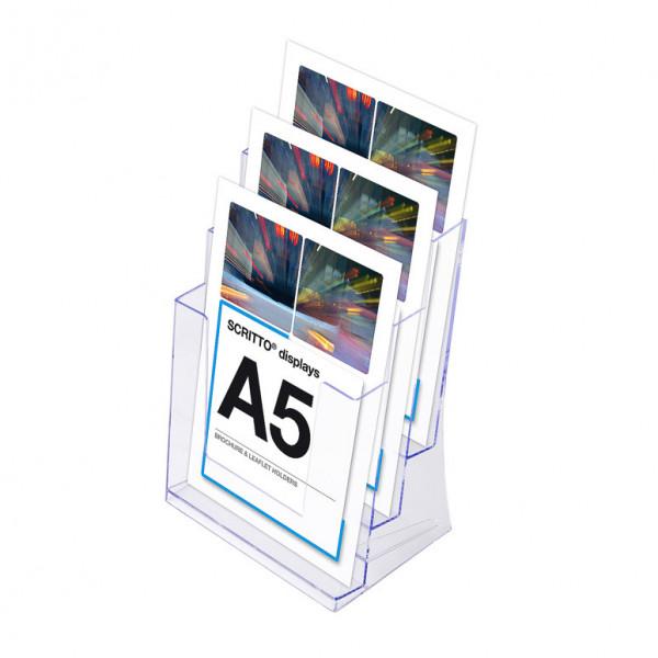 Prospektständer Scritto® DIN A5 3 Etagen - 3 Fächer
