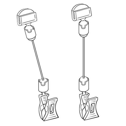 Schildhalter klein 27mm mit Stab/Klammer - VersaGrip