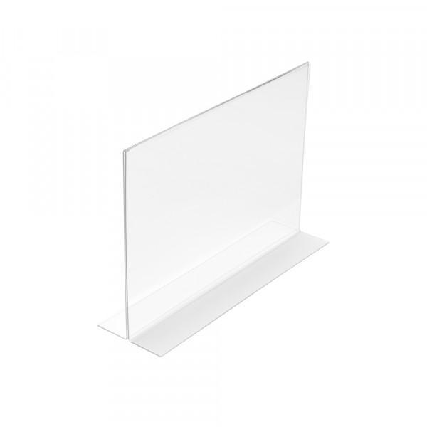 Tischaufsteller T-Form DIN A6 Querformat