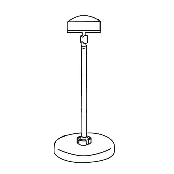 Schildhalter groß 50mm mit Standfuss und Stab 100mm - VersaGrip